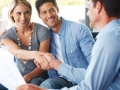 Young couple with finanacial advisor - Future planning